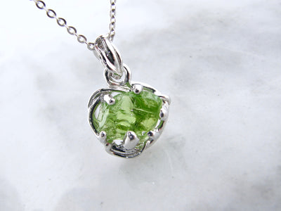 august-birthstone-rough-cut-gemstone-silver-necklace-wexford-jewelers
