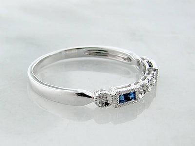 princess-cut-sapphire-diamond-white-gold-ring-diadem-wexford-jewelers