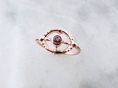 purple-sapphire-rose-gold-ring-wexford-jewelers