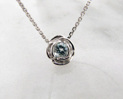aquamarine-silver-rose-shaped-necklace-wexford-jewelers