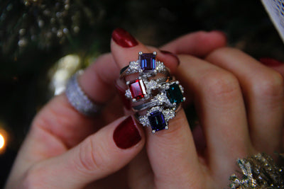 silver-moissanite-ruby-vintage-ring-wexford-jewelers