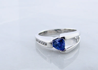 trillion-cut-tanzanite-sapphire-silver-ring-wexford-jewelers