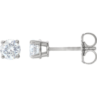 White Gold Diamond Earring Studs 1.02TDW