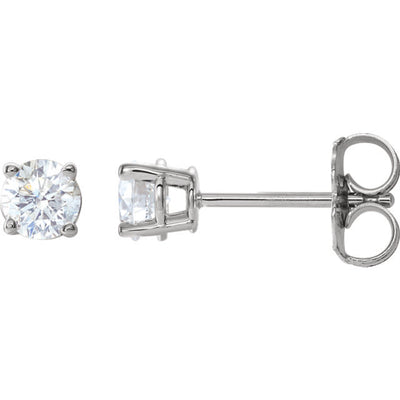 White Gold Diamond Earring Studs 0.63TDW