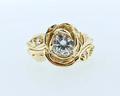 large-rose-moissanite-yellow-gold-wedding-ring-set-wexford-jewelers