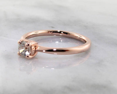 Rose Gold Diamond Solitaire Engagement Ring, Wexford Legacy