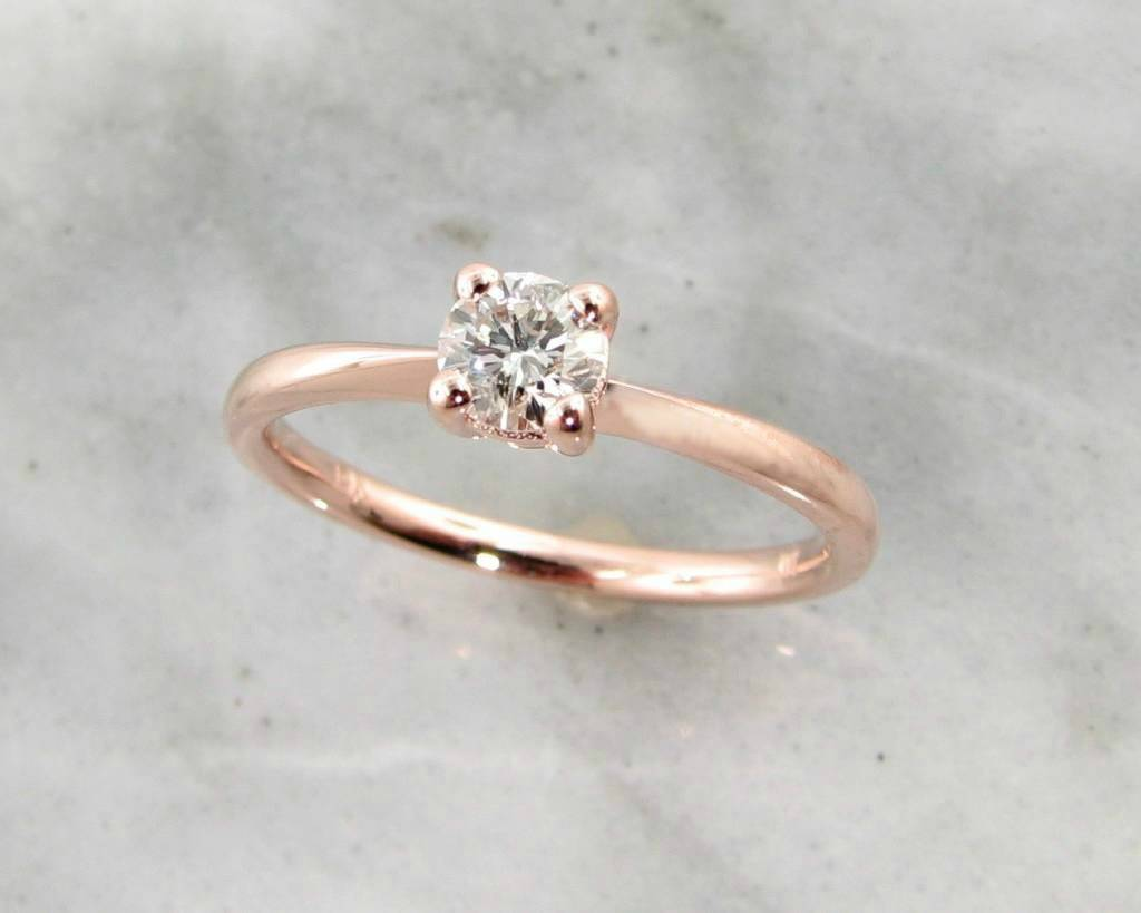 Rose Gold Diamond Solitaire Engagement Ring Wexford Legacy Wexford Jewelers