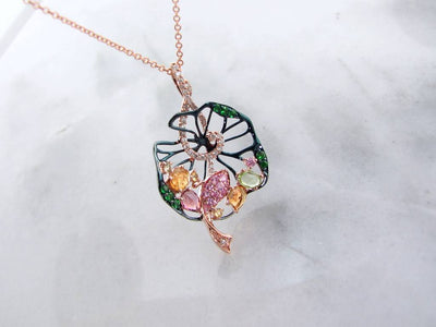 rose-gold-gemstone-necklace-wexford-jewelers