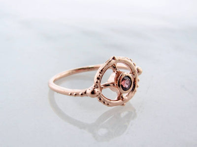 rose-gold-purple-gemstone-ring-wexford-jewelers
