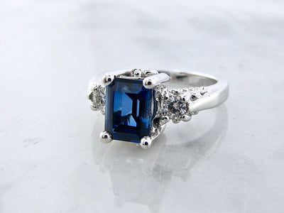 sapphire-silver-moissanite-birthstone-ring-wexford-jewelers