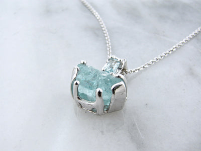 raw-faceted-aquamarine-silver-necklace-wexford-jewelers