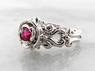 hot-pink-tourmaline-engagement-vintage-style-wexford-jewelers-floral