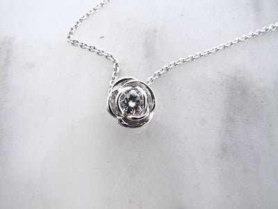 silver-rose-shaped-april-birthstone-slider-necklace-wexford-jewelers