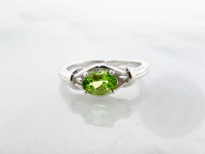 Peridot Silver Ring, Timeless