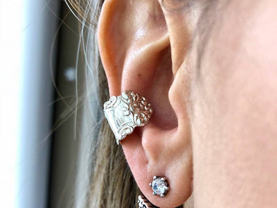 Silver Spoon Ear Cuff