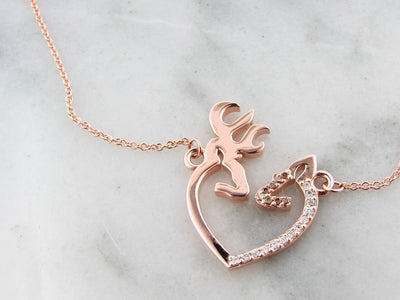 wexford-jewelers-rose-gold-chocolate-diamond-necklace