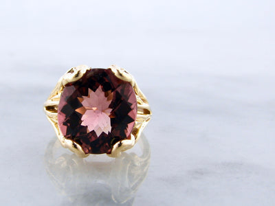 Pink-tourmaline-18K-yellow-gold-ring-wexford-jewelers