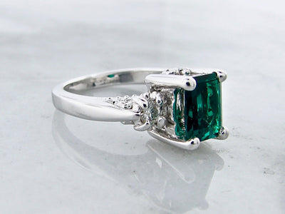 silver-moissanite-lab-emerald-cut-ring-old-paris-ring-wexford-jewelers