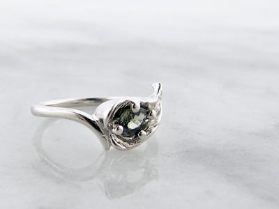 wexford-jewelers-silver-olive-green-sapphire-leaf-ring