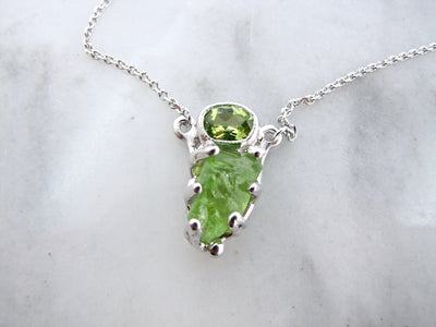 faceted-rough-cut-peridot-necklace-wexford-jewelers