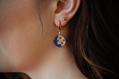 diamond-sapphire-rose-gold-earrings-wexford-jewelers