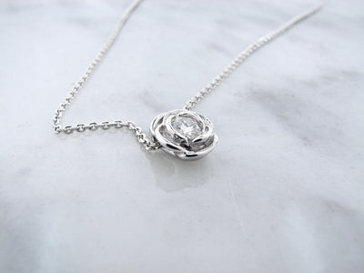 silver-moissanite-rose-slider-necklace-wexford-jewelers