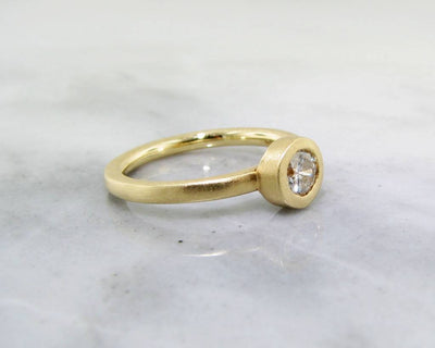 18K Yellow Gold Stacked Round Diamond Ring
