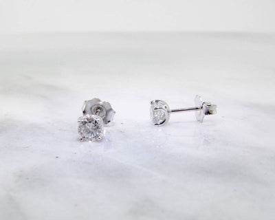 Diamond Stud Earrings, White Gold, 0.68ct TDW