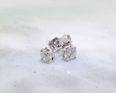 White Gold Diamond Earrings, .50 TDW