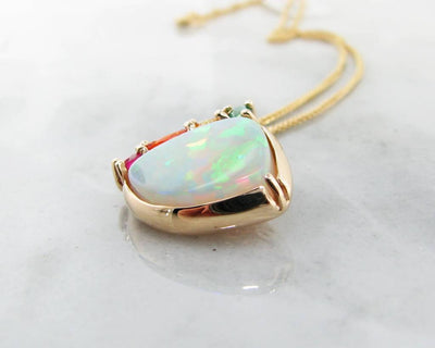 Opal Yellow Gold Multi-Gem Pendant, Juicy