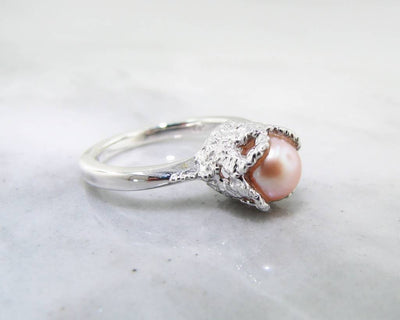 Pearl Silver Lace Ring