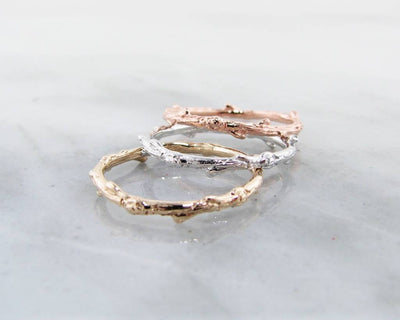 Yellow Gold Ring, Twig Band