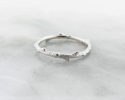White Gold Ring, Twig Band