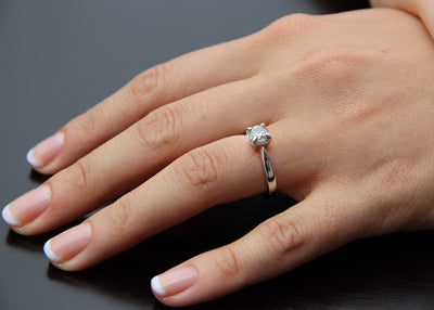 White Gold Diamond Engagement Ring, Wexford Legacy