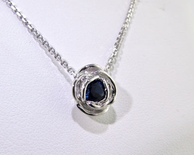 silver-blue-sapphire-rose-shaped-necklace-wexford-jewelers