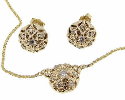 Yellow Gold Diamond Necklace, Bisnonna