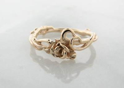 Yellow Gold Engagement Ring, Rose Garden