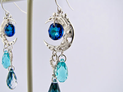 silver-dangle-blue-swarovski-earrings-wexford-jewelers