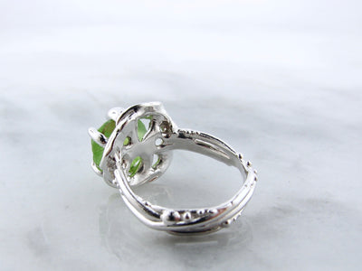 bird-nest-silver-peridot-ring-wexford jewelers