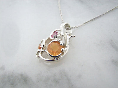 mexican-fire-opal-silver-poppy-topaz-necklace-wexford-jewelers