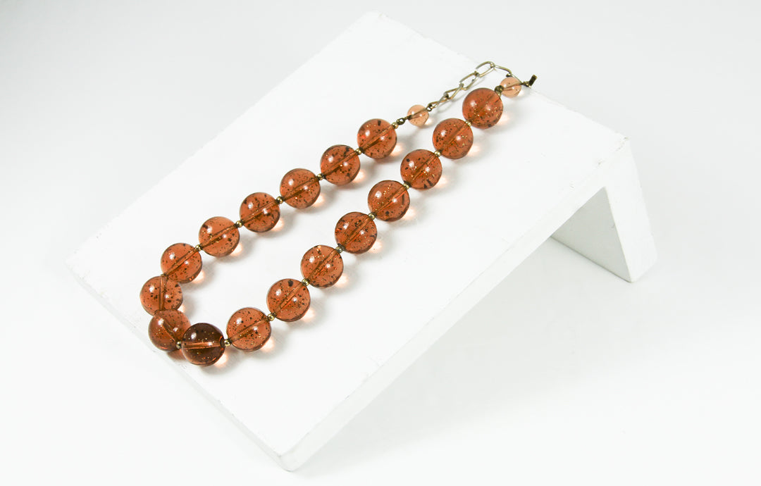 AMBER VINTAGE NECKLACE