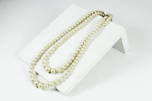 Two Rows Pearl Necklace