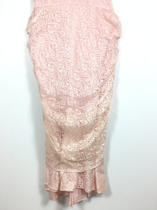 SALLY splendide robe de dentelle rose