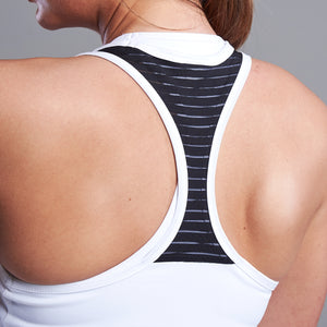 Maia Racer Back Top in White
