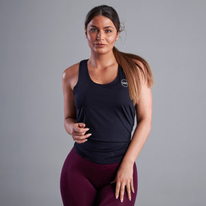 Keyla Tie Back Gym Top in Black