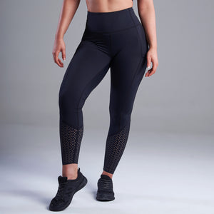 Thalia Dotted Detailed Leggings in Black