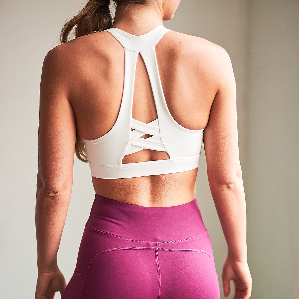 Iris Gym Bra Top in White