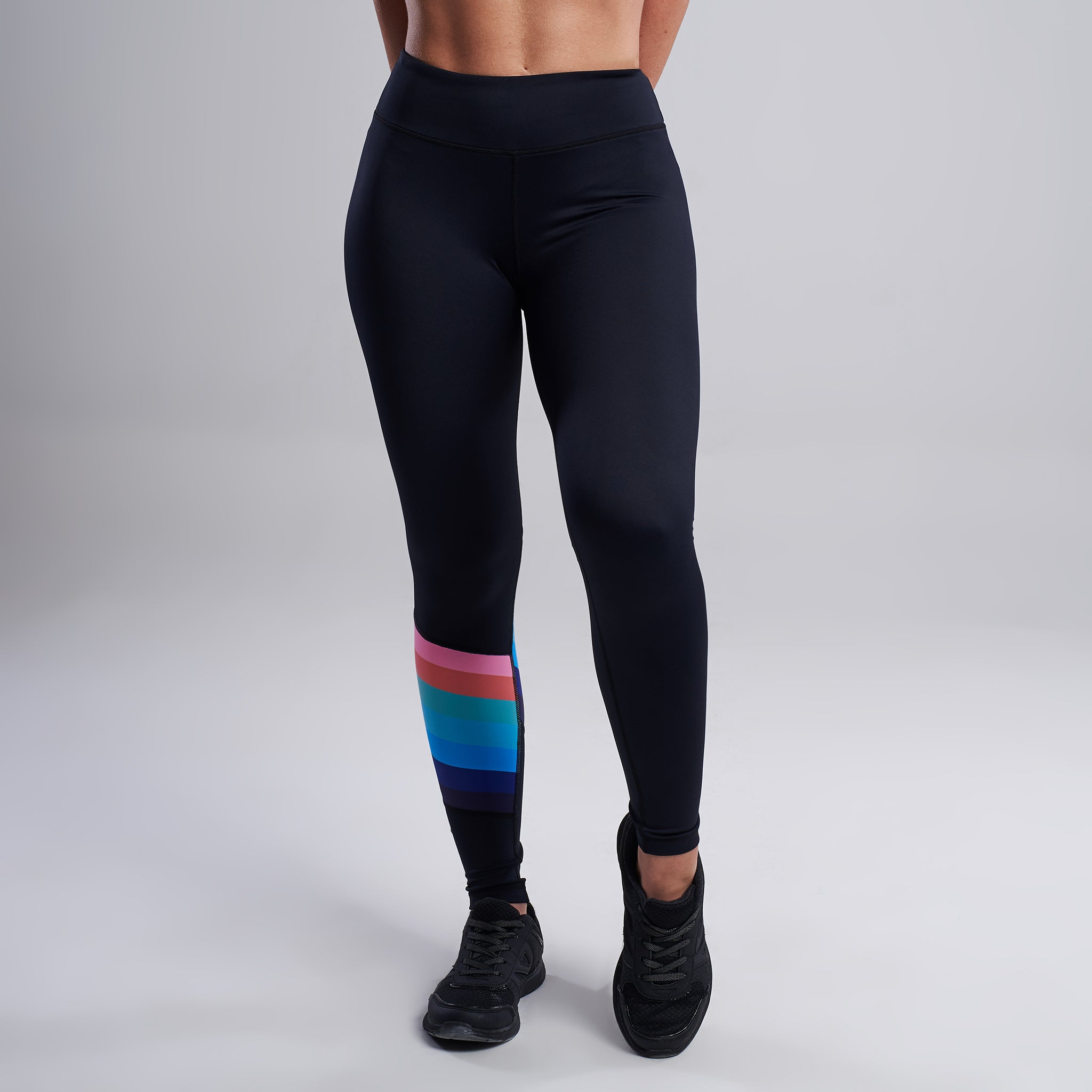 Rainbow Leggings in Black