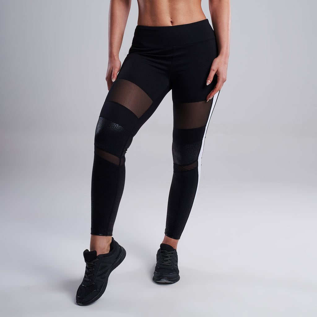 Suki Mesh Leggings in Black