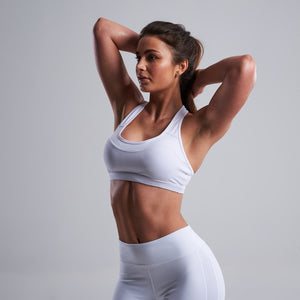 Lasya Sports Bra in White